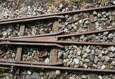 铁轨 免版税库存照片