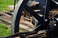 铁轮子细节 免版税库存图片