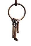 铁钥匙圈 图库摄影