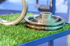 铁铸件零件和加工 库存照片