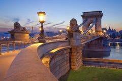 铁锁式桥梁,布达佩斯。 库存图片