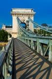 铁锁式桥梁,布达佩斯 库存图片