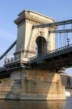 铁锁式桥梁-布达佩斯匈牙利 库存图片