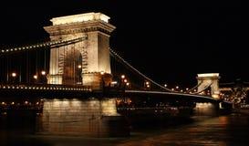 铁锁式桥梁 免版税图库摄影