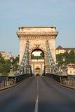 铁锁式桥梁 库存照片