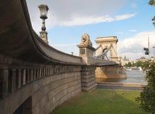 铁锁式桥梁 免版税库存图片