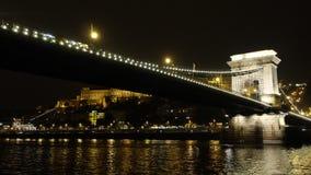 铁锁式桥梁 图库摄影