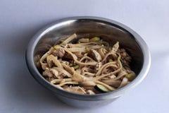 铁锅,面条,食物 免版税库存照片