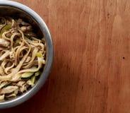 铁锅,面条,食物 图库摄影