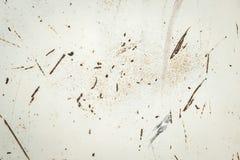 铁锈伸进的纹理在被绘的金属的 库存照片