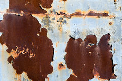 铁锈和剥蓝色油漆 免版税库存图片