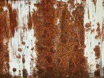 铁锈生锈的生锈的墙壁墙纸 库存图片