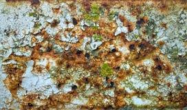 铁锈被弄脏的片状油漆 免版税库存照片