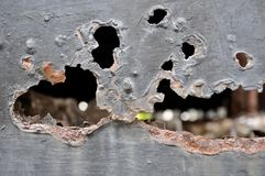 铁锈金属,铁锈和腐蚀背景损伤  免版税库存照片