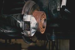 铁锈闸服务修理过程 库存图片