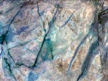 铁锈颜色大理石纹理和水色裂缝  库存照片