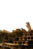 铁锈H型桁 库存图片