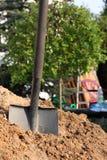 铁锹土壤 免版税库存图片