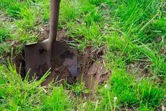 铁锹土壤 免版税图库摄影