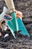 铁锹土壤 库存图片