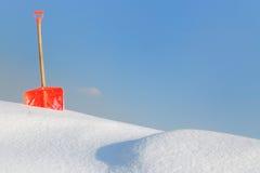 铁锹雪 免版税库存图片