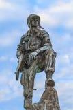 铁麦克雕象在诺曼底,法国 免版税库存照片