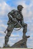 铁麦克雕象在诺曼底,法国 库存照片