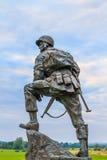 铁麦克雕象在诺曼底,法国 库存图片