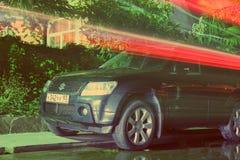 铃木盛大VITARA.Road向西部的中国的-第16个成都汽车展示会, 8日8月31th 9月, 2013年 免版税库存图片