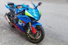 铃木GSX-R1000 2015年摩托车 库存照片