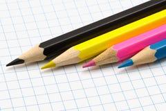 铅笔。 CMYK 库存图片