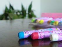 铅笔凹道的颜色 库存照片