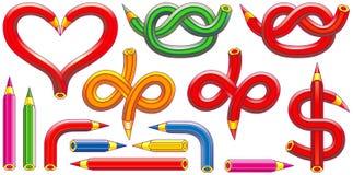 从铅笔创造的图形符号- 3 免版税库存照片