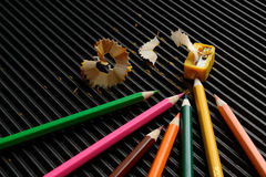 铅笔刮 免版税库存照片