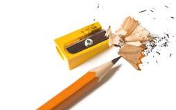 铅笔削尖 库存图片