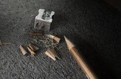 铅笔和磨削器 免版税图库摄影