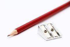 铅笔和磨削器 免版税库存图片