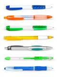 铅笔和笔收集 免版税图库摄影