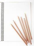 铅笔和笔记本 免版税库存图片