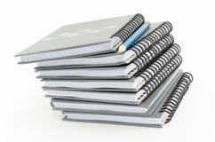 铅笔和笔记本 免版税库存照片
