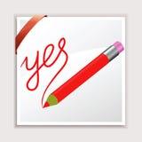 铅笔和纸张 皇族释放例证