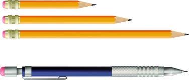 铅笔和自动铅笔 库存图片