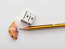 铅笔和铅笔sharperner 库存图片