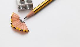 铅笔和铅笔sharperner 库存照片