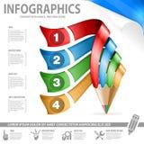 铅笔和Infographic 库存照片