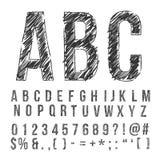 铅笔字体 库存图片