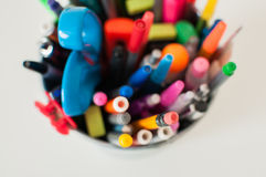 铅笔持有人 免版税库存照片