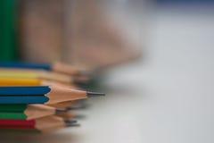 铅笔提高的技巧  免版税库存图片