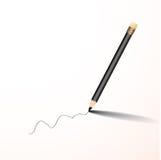 铅笔文字传染媒介 库存图片