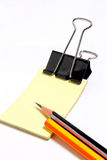 铅笔标签 免版税库存照片
